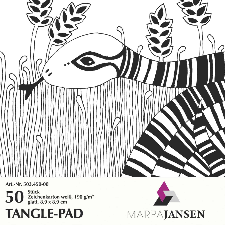 Marpa Jansen tangle-pad (wit 50 vel)